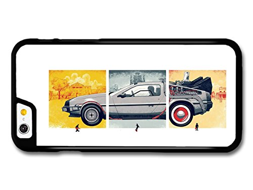Back to the Future Movie Marty McFly with Delorian Illustration hülle für iPhone 6 6S