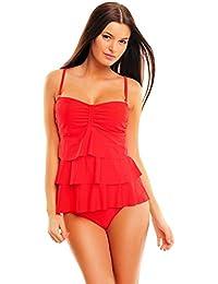 Femme Figure Optimizer / Push Up swimsuit avec des volants avant 1100- f4939