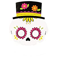 Haodou Halloween Party Cartoon Paper Mask Kindergarten Masquerade Prom Ball Party Pumpkin Bat Pirate Mask Cosplay Dress-Up Costume Accessory (White)