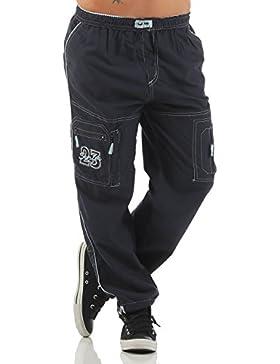 SUCCESS Kinder Jungen Cargo Hose Casual Wear Knaben Chino Stoff Hose 5 Pocket Regular Fit Freizeithose