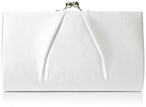Swanky Swans - Mira Satin Classic Frame Bag, Pochette da giorno Donna Beige (Ivory)