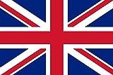 Etaia 7x10 cm (Mittlere Grösse) Auto Aufkleber Fahne/Flagge von Grossbritannien Union Jack UK Sticker Motorrad Europa Länder