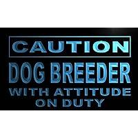 Insegna al neon m554-b Caution Dog Breeder Neon Light Sign