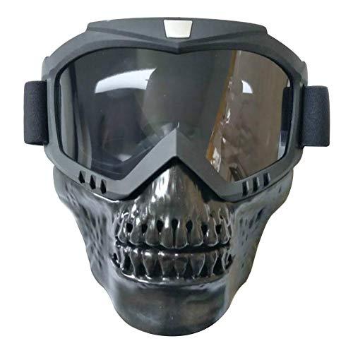 Tomobile Motorrad Brille Harley Stil Maske abnehmbare Wear mit Helm Sonnenbrille Motorrad Brille