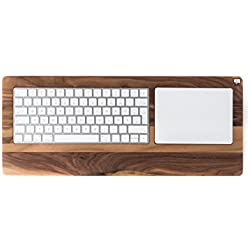 Woody's TrackpadTray - Bandeja para teclado y trackpad de Apple (madera de nogal, para diestros)