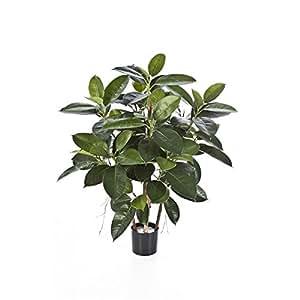 Pianta artificiale Ficus elastica, altezza 90cm - 135 foglie