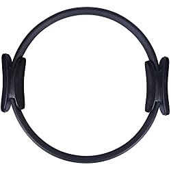 Kottle Pilates anillo poder resistencia cuerpo completo tonificar Fitness Circle, 15 pulgadas doble anillo para Pilates, Yoga (Negro)