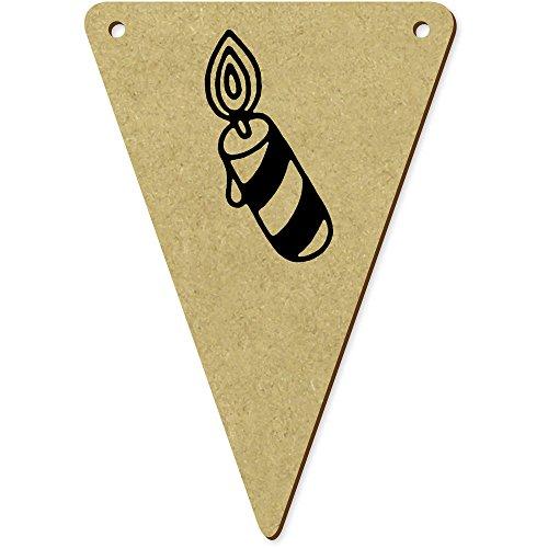 Azeeda 5 x 100mm 'Brennende Kerze' Wimpel / Banner aus Holz (BN00046463)