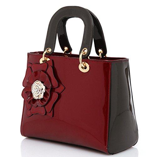Mini Handtasche Schultertasche Diagonal Paket Damen Fashion Totes Umhängetaschen Für Party Hochzeit Clubs,Red WineRed