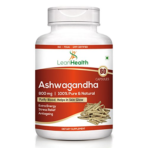 Leanhealth Ashwagandha 800 MG 60 Capsules 100% Pure and Natural.(Pack...