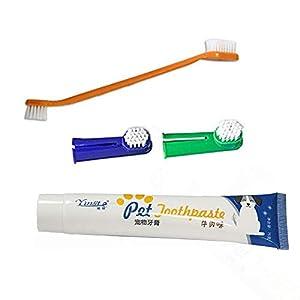 Class-Z Dentifrice pour Chien, Brosse à Dents, brosses à Doigts, Dentifrice pour Chiens et Chats, Produits de Nettoyage buccal Outils de désodorisation des Soins dentaires.