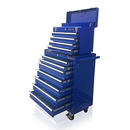 US PRO blau Tools Günstigen Stahl Brust Instrument, Roller Schrank 11Schubladen -