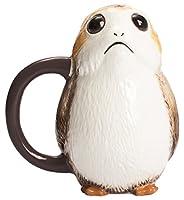 Star Wars 3D tazza Porg 591ml 17cm ceramica marrone bianco
