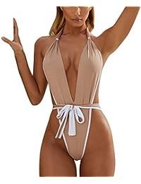 LILIHOT Damen Print Siamese Bandage Badeanzug Pulled Bikini Damen mit V-Form Ausschnitt Bauchweg Rückenfrei Push-up Elegant Grace Schwimmanzug Einteiler Schlankheits Raffung High Neck Bademode