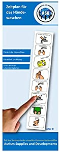 Autism Supplies And Developments-Plástico, horario de Manos de Lavado Visual (alemán) (DE_WHS)