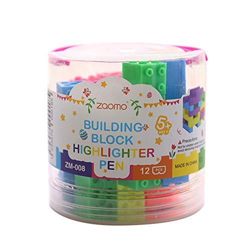xt-Marker Bausteine Stifte Set, Leuchtmarker mit Spitze in Nadelform für Büro Schule Haushalt ()