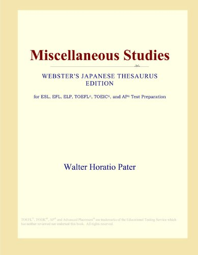 Miscellaneous Studies (Webster's Japanese Thesaurus Edition)