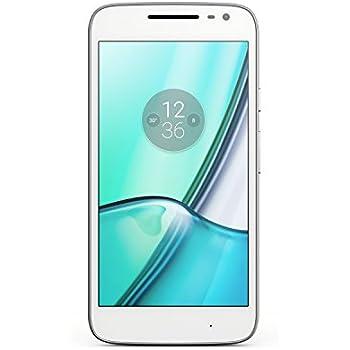Lenovo Moto G4 Play Smartphone Débloqué 4G (Ecran: 5 Pouces - 16 Go - Double SIM - Android) Blanc