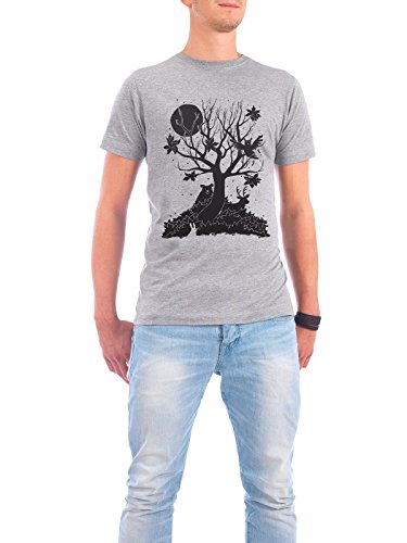 "Design T-Shirt Männer Continental Cotton ""Autumn Forest"" - stylisches Shirt Tiere Kindermotive von Tobe Fonseca Grau"