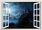 Namefeng Magic Harry Potter Castle Wall Stickers Poster 3D Window Hogwarts Wall Decals World School for Kids Bedroom