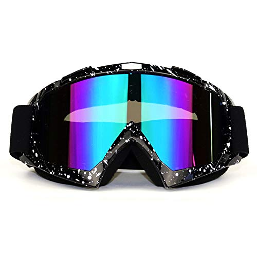 Sforza Motorradbrillen Off-Road Schutzbrille Snowboardbrille Anti Nebel Winddicht Motocross Goggle Für Damen Und Herren