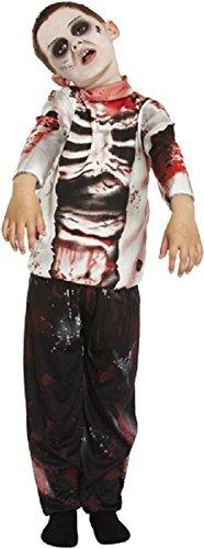 Kind Zombie Junge 4-12 Jahre - EU 140-152 (Jungen Halloween Kostüme Uk)