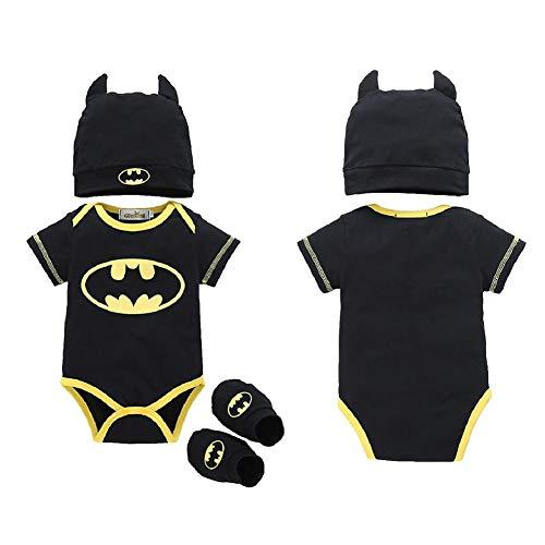 Strampler Set Junge, 2018 heißer Verkauf Baby Jungen Kurzarm Superman Strampler Hut Schuhe und Socken dreiteilige Kleidung ()