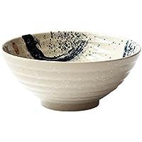 YWXG Recipiente Estilo japonés hermoso cuenco de cerámica creativa cuenco de sopa retro plato de ensalada de frutas plato ramen cuenco recipiente utensilios para el hogar Bowl,Kitchenware,Containers,Cereal,dishwasher,Salad Bowls,Dishes