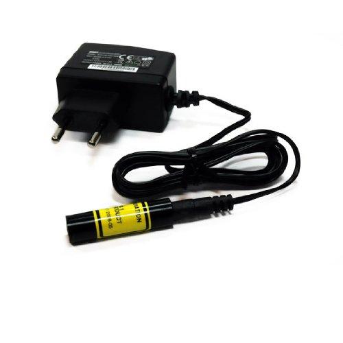 Laserfuchs Positionierlaser Linienlaser rot 90° 650nm 5mW incl. Netzteil, Fokus 250mm - 70106312