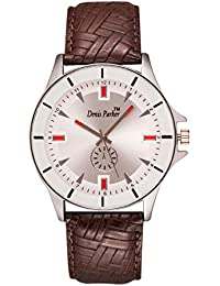 Denis Parker Genuine Leatherl Watch For Men - Versatile And Durable Classic Analog Mens Watch / Men Wrist Watches...