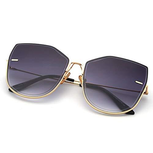 AAMOUSE Sonnenbrillen Frauen Sonnenbrillen Übergroße Mode Stil Cat Eye Sonnenbrille für Frauen Metallrahmen Mode Sommer Geschenk