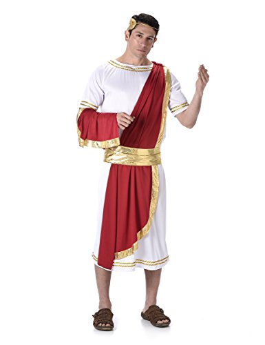 Roman Emperor Mens Fancy Dress Grecian Historic Caesar Toga Adult Costume Outfit M ( 38 - 40 (Outfits Party Toga)