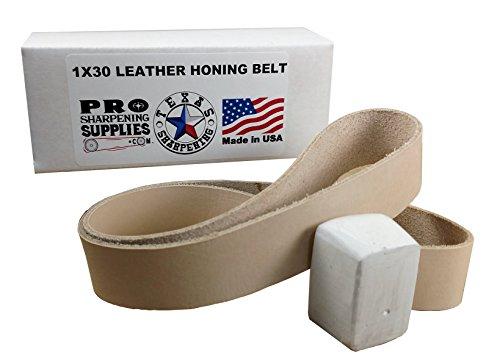 25mm x 762mm (2,5x 76,2cm) Leder Schärfen Gürtel für Honen & Abziehen–Pro Schärfen Supplies (Rasieren Am Besten Rasiermesser)