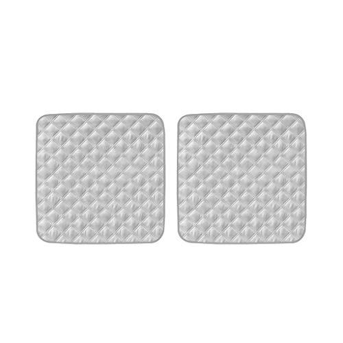B Blesiya 2 Stück Waschbar Inkontinenzunterlage Sitzeinlage Sitzauflage Unterlage Autositz, Grau