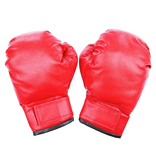 Wovemster Guantoni da Boxe Muay Thai Punching Bag Training Sparring Kickboxing Sandbag Junior PU Guantoni da Boxe in Pelle