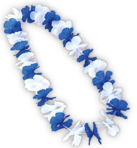 (Hawaiikette Hawaii Kette Bayern blau / weiss Länge: ca. 90 cm [Spielzeug])