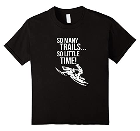Kids So Many Trails So Little Time Snowmobile Shirt Brap 4 Black