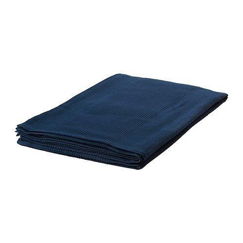 Ikea IKE-103.962.46 INDIRA Tagesdecke in dunkelblau; 100{0dbea0629d879efe111dc6bbf8e50f1244af462b7b1fa25f17a291f6aff9c7f3} Baumwolle; (150x250cm)