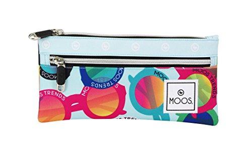 Moos – Portatodo doble, diseño gafas, 22 x 11 cm (Safta 811523029)
