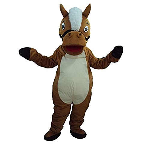 Mascottes Cartoon Costumes - myos Costume pour cheval Marron Cartoon Halloween