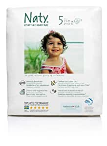 3 Packs Nature Babycare Junior Nappies (Size 5) (3 x 23 nappies) 11-25 kg, 24-55 lbs