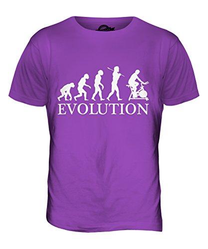 CandyMix Fahrradergometer Heimtrainer Evolution Des Menschen Herren T Shirt Violett