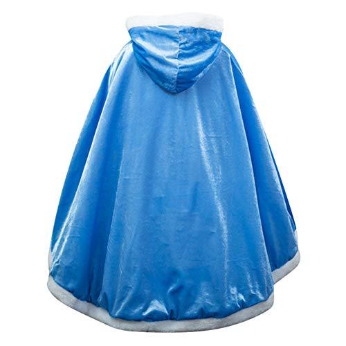 Le SSara Weihnachtsmädchen Prinzessin Cosplay Kostüm Fancy Schmetterling Kleid (140, PJ-Blue)