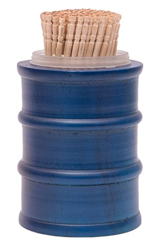 EKDODHAI Wood Toothpick Holder with 50 Toothpicks, Blue, DRUM TOOTHPICK B  available at amazon for Rs.250