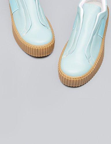 Trova Damen Walsh Elastico Pantofola Mit Plateausohle Blau (azzurro)