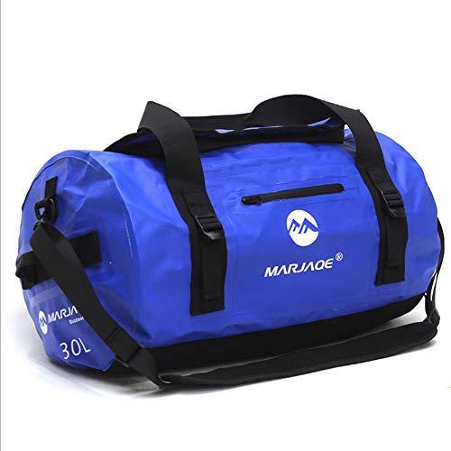Hmjz la borsa di viaggio nautica impermeabile della chiusura lampo portatile all'aperto di grande capienza 30l / 60l / 90l può essere doppia spalla,60l