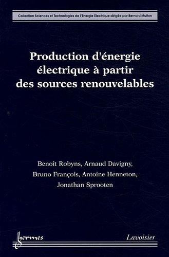 Production d'énergie électrique à partir des sources renouvelables