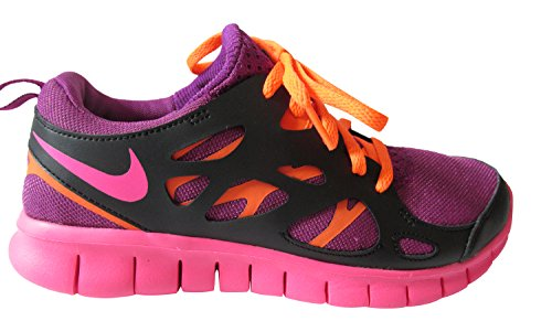 Nike Unisexe Enfant Nike Free Run 2 Baskets Gs - épais baie/rose...