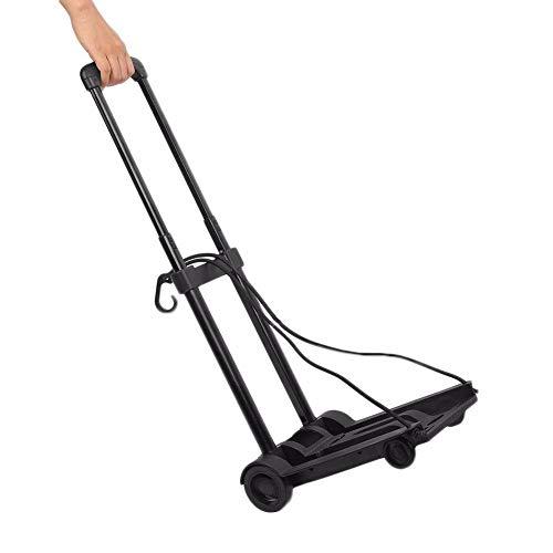 Inovera Foldable Collapsible Travling Shopping Luggage Manual Trolley Cart, Black