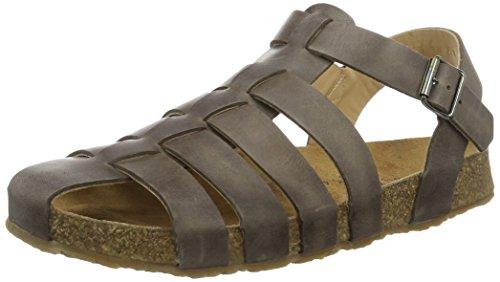 Haflinger Sandalen für Herren Modell: Peter / Geschlossene Leder Sandalen, Braun (Dunkelbraun), verschiedene Größen